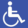 Blue badge disabled sign